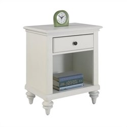 Home Styles Bermuda Night Stand in Brushed White Finish