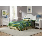 Home Styles Bermuda Headboard, Nightstand, and Chest Set in White