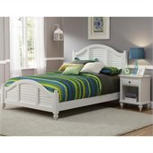 Home Styles Bermuda Queen Bed and Night Stand Set in White Finish