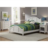 Home Styles Bermuda Queen Bed, Night Stand, and Chest Set in White