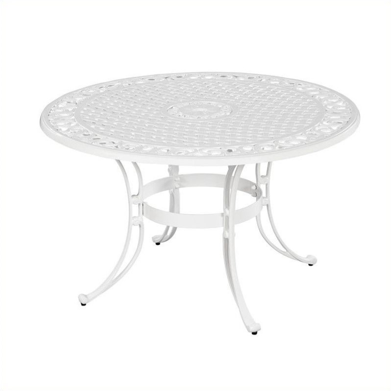 Home Styles Biscayne 42 Round Dining Table in White