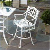 Home Styles Biscayne Bar Stool in White