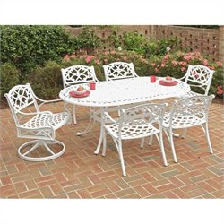 "Home Styles Biscayne 7PC 72"" Oval Dining Table Set"