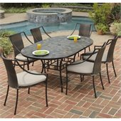 Home Styles Stone Harbor 65 7PCDining Table Set