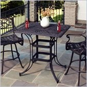 Home Styles Biscayne Rectangular Outdoor Bistro Table in Black