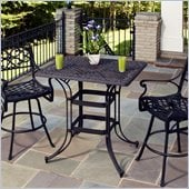 Home Styles Biscayne Rectangular Outdoor Bistro Table in Bronze