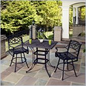 Home Styles Biscayne 3 Piece Outdoor Bistro Set in Bronze