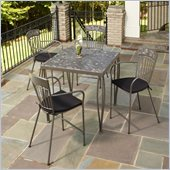 Home Styles Glen Rock 5 Piece Outdoor Bistro Set in Gray