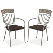 Home Styles Glen Rock Outdoor Dining Chair in Gray (Set of 2)