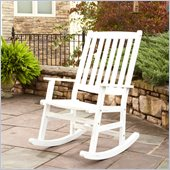 Home Styles Bali Hai Outdoor Rocking Chair in White