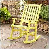 Home Styles Bali Hai Outdoor Rocking Chair in Lemonade Finish