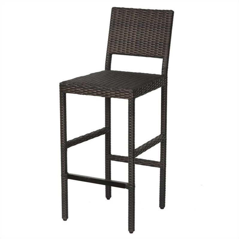 Home styles riviera outdr woven stool brown outdoor bar stools patio barstool ebay Home depot wood bar stools