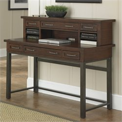 Home Styles Cabin Creek Executive Desk and Hutch in Chestnut Finish
