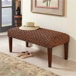 Home Styles Cabana Banana II Bench in Cinnamon Finish