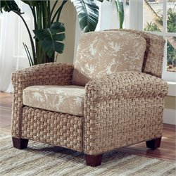 Home Styles Cabana Banana II Coastal Arm Chair in Honey