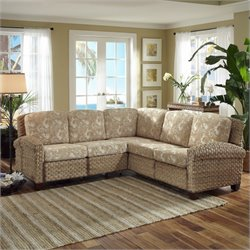 Home Styles Cabana Banana II Sectional in Honey Finish