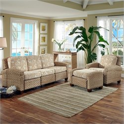 Home Styles Cabana Banana II 3 Piece Sofa Set in Honey Finish
