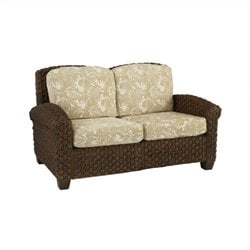 Home Styles Cabana Banana II Love Seat in Cinnamon Finish