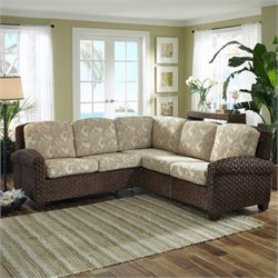 Home Styles Cabana Banana II Sectional in Cinnamon Finish