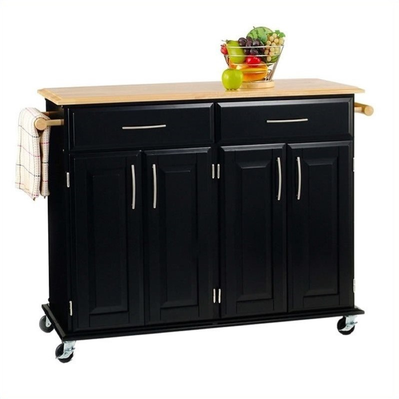 Home Styles Furniture Madison Black Kitchen Cart