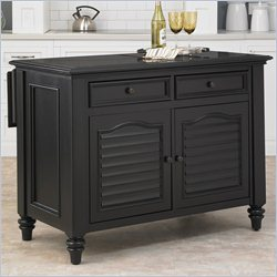 Home Styles Bermuda Kitchen Island in Black