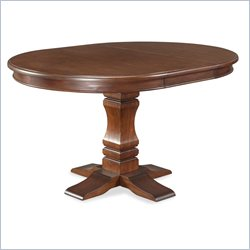 Home Styles Aspen Pedestal Dining Table in Rustic Cherry