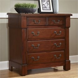 Home Styles Aspen Drawer Chest in Rustic Cherry