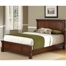 Home Styles Aspen Bed in Rustic Cherry