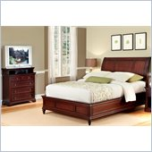 Home Styles Lafayette Sleigh Headboard and Media Chest
