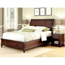 Home Styles Lafayette Sleigh Bed and Night Stand