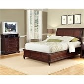 Home Styles Lafayette Sleigh Bed and Media Chest