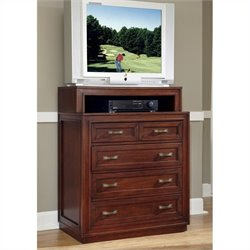 Home Styles Duet Media Chest in Cherry Finish