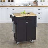 Home Styles Furniture Black Kitchen Cart