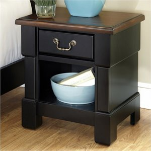 Home Styles The Aspen Collection Night Stand, Rustic Cherry/Black