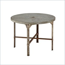 Home Styles Urban Outdoor Round Dining Table In Aged Metal Finish