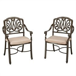 Home Styles Floral Blossom Taupe Arm Chair Pair