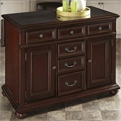 Home Styles Colonial Classic Kitchen Island in Dark Cherry