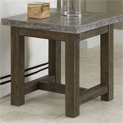 Home Styles Concrete Chic End Table in Brown and Gray