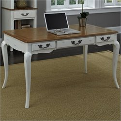 Home Styles French Countryside Executive Desk in Oak and Rubbed White