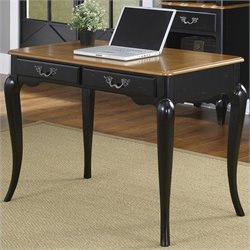Home Styles French Countryside Student Desk in Oak and Rubbed Black
