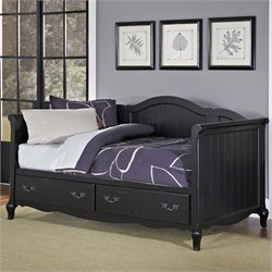 Home Styles French Countryside Daybed in Rubbed Black
