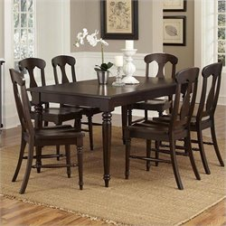 Home Styles Bermuda 7 Piece Dining Set in Espresso