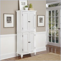 Home Styles Bermuda Pantry in Brushed White