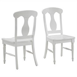 Home Styles Bermuda Dining Chair in Brushed White (Set of 2)