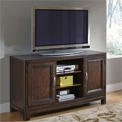 Home Styles Crescent Hill 56 Inch TV Stand in Two Tone Tortoise Shell