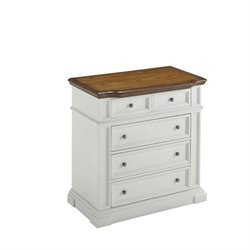 Home Styles Americana Chest in White and Oak