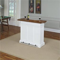 Home Styles Americana Home Bar in White Oak