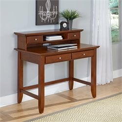 Home Styles Chesapeake Student Desk and Hutch in Cherry