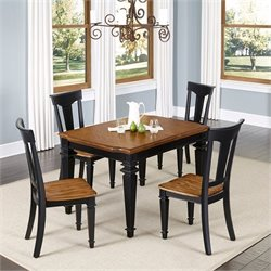 Home Styles Americana 5 Piece Dining Set in Black Oak