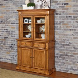 Home Styles Americana Buffet and Hutch in Oak